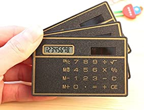 king's store 8 Digits Ultra Thin Slim Mini Credit Card Design Solar Power Pocket Calculator
