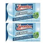 Spontex Jumbo Soft 2 x Esponja de limpieza – Esponja de cocina – Ideal para azulejos, porcelana, vidrio y grifos en baño y cocina