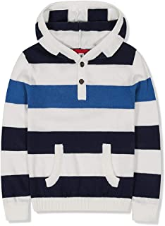 Benito & Benita Boys Sweater Cotton Long Sleeves Striped Pullover Hoodie for 2-12Y Homecoming Gift