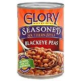 Glory Foods, Seasoned, Blackeye Peas, 15oz Can (Pack of 6)...