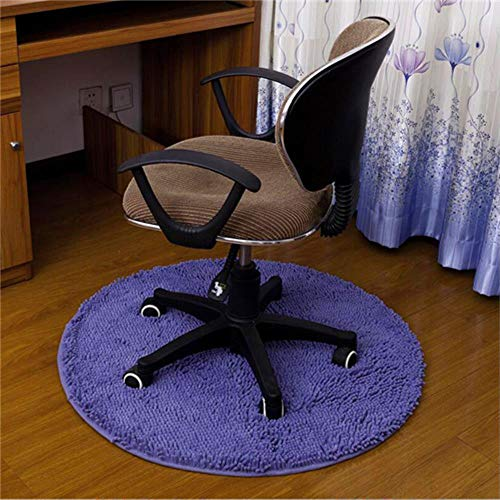 LCZMQRCLMZRQCirculaire waterabsorptie vloertapijt antislip ronde mat keukendeur bureaustoel mat kleed hal portiek deurmat, lichtpaars, diameter 100cm