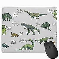 恐竜 マウスパッド 運びやすい オフィス 家 最適 おしゃれ 耐久性 滑り止めゴム底付き 快適操作性 30*25*0.3cm