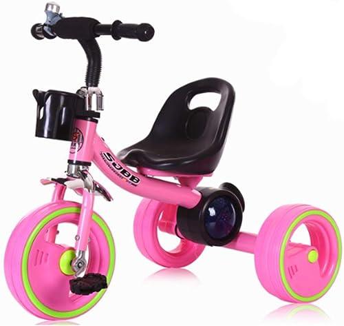 Minmin-chezi Kinder Dreirad Baby Musik Bunte Lichter Reiten Dreirad Fahrrad 1-6 Kinder Fahrrad Rot