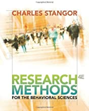 Research Methods for the Behavioral Sciences 4th (fourth) Edition by Stangor, Charles published by Cengage Learning (2010)