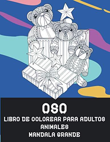Libro de colorear para adultos - Mandala Grande - Animales - Oso