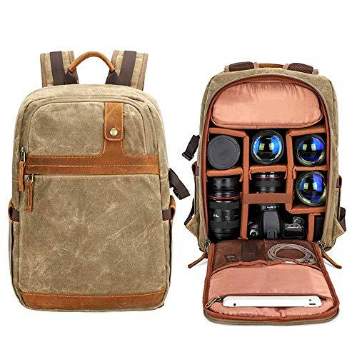 Nfudishpu Kamerarucksack, digitaler wasserdichter SLR-Multifunktionskameratasche Micro Single Tragbarer Rucksack für Frauen und Männer Ultraleicht und kompakt (Farbe: Braun, Größe: 30x16x47CM)