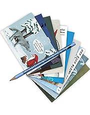 10-delige set Postarten A6 • MIX-0890 '' ansichtkaartenset met potlood Xmas 7'' van Inkognito • Kunstenaar: INCOGNITO