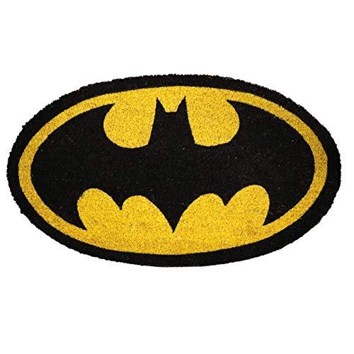 BricoLoco. Felpudo original con el logo de Batman. Felpudo de coco y PVC.