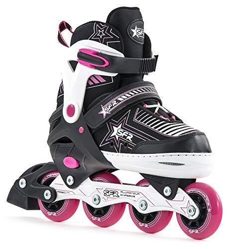 SFR Pulsar Children's Unisex Adjustable Skates, RS480, pink, 12-2 UK (30.5-34 EU)