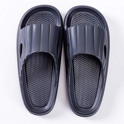 Chanclas de Playa y Piscina para Unisex Suave,Zapatillas de baño de Suela Gruesa, Sandalias de Pareja de Interior para el hogar-Gris 7_42-43,Mujer Hombre Zapatos de baño
