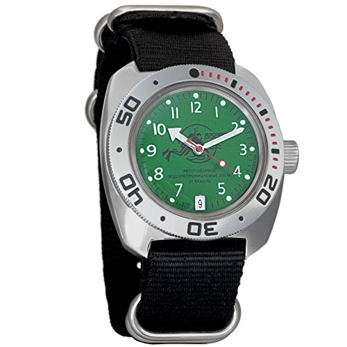 Vostok Amphibian Scuba Dude Collection Automatic Mens Wristwatch Self-Winding Military Diver Amphibia Case...