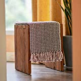 MOTINI 100% Cotton Decorative Throw Blanket with Tassel,Hand-Knitted Stripe Cozy Blanket for Chair,Couch, Picnic,Camping,Beach,& Everyday Use,Gift Sets 50'x60'