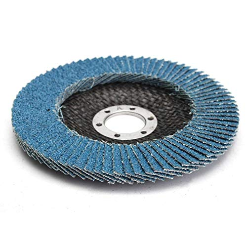 LT-DISCS, 13000 rpm 40/60/80/120 Grit mola Flap Disc 125 millimetri 5' smerigliatrice di angolo di levigatura strumento Zirconia resistenza all'usura abrasivi Tools ( Colore : 1pcs , Taglia : 80 )