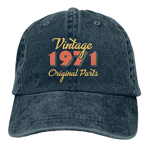 Vintage 1971 Regalo Hedging Cap Mujeres & Hombres Caliente Grueso Caliente Invierno Hedging Cap, azul marino, Talla única