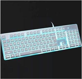 MINHUISHANGMAO Keyboard, Ergonomic Design Metal Mechanical Computer Keyboard, Waterproof And Backlit Desktop Notebook Univ...