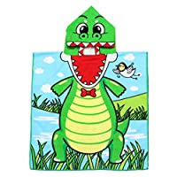 Cabilock ベビーフード付きバスタオル恐竜スイミングビーチバスローブポンチョローブシャワーギフト幼児用幼児用バスルーム(アソートカラー)