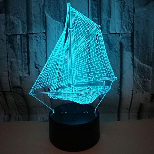 ZMY Luz Nocturna LED Europea Creative Acrílico Lámparas de Mesa de Vela 3D Lámpara de iUSION 7 Colores Cambiando automáticamente Lámparas de decoración Táctil Atmósfera Restaurante Lámpara de Barra