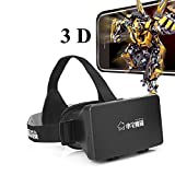 Highmantech Colorcross 3D Video Glasses Universal Google Cardboard Virtual Reality for 4-6'Smartphones (Home 3D Glass(Black))