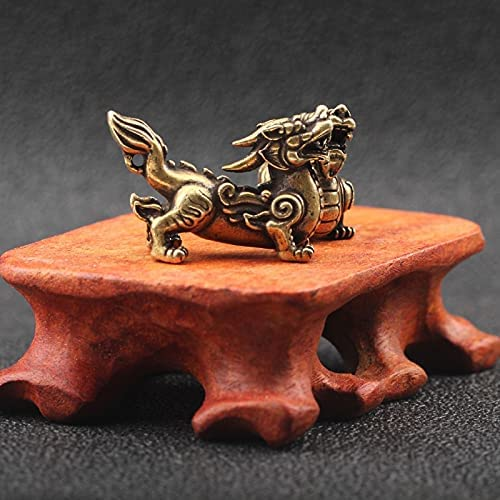 Antique Copper Chinese Mythical Beast Free shipping Miniature Pixiu quality assurance Figurines