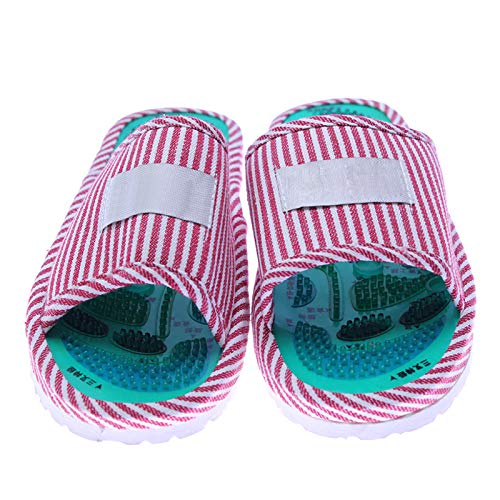 Preisvergleich Produktbild 1 Paar Akupunktur Fußreflexzonenmassage Fuß Gesunde Massage Schuh Holz Fußmassagegerät Hausschuhe Schuhe