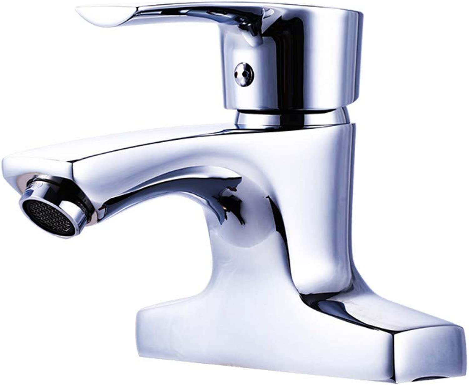 Bathroom Brass Basin Hot and Cold Faucet On The Wash Basin Double Mixing Valve Basin Faucet