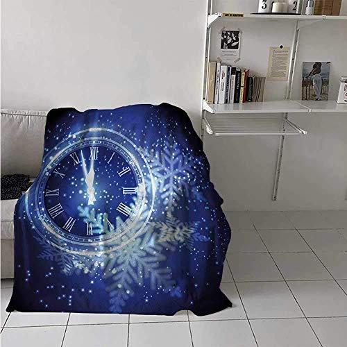 Nazi Mie Uhr Decke Countdown bis Neujahr EIN Uhr Urlaub und Schneeflocken Muster Feier Decke blau zu werfen