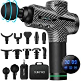 Muscle Massage Gun Body Massager Deep Tissue Percussion Massage Professional Leg Neck Back Messager Handheld Sports Drill with 30 Speed 12 Message Heads for Relaxation Muscle Soreness Stiffness