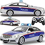 Polizei Auto ferngesteuert Modell Mercedes Benz E-Klasse (E 350) Coupe 1:16 RC mit Sound Beleuchtung und verschiedenen Fahrfunktionen