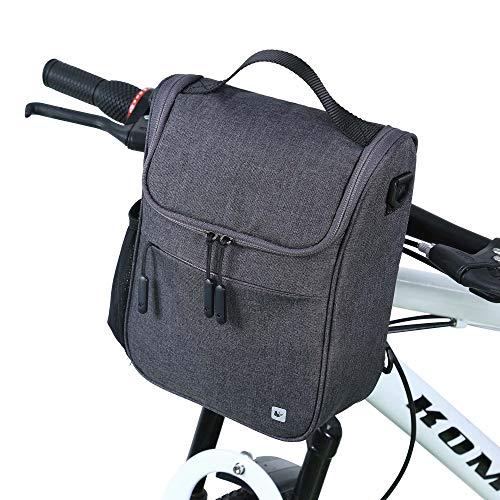 Movaty Bolsa de Manillar de Bicicletas de Carretera y de Montaña para Ciclismo, Incluye Correa para el Hombro Extraíble y Cubierta para la Lluvia,Capacidad 5L,Impermeable
