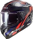 Casco moto LS2 FF327 CHALLENGER PROPELLER RED BLUE, Nero/Rosso/Blu, M