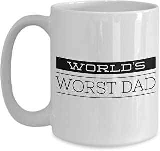 Deadbeat Dad Gifts Coffee Mug - World's Worst Dad Ever Ceramic Coffee Cup