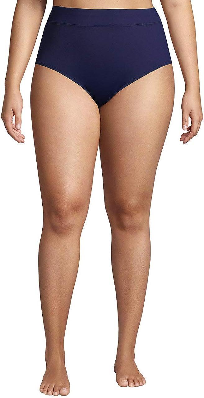 Lands' End Women's Tummy Control High Waisted Bikini Bottoms