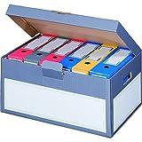 karton-billiger 5 Stück Archivschachteln Klappdeckel'Premium' mit Boden und Deckel zur Ablage von Ordnern A4