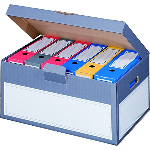 karton-billiger 5 Stück Archivschachteln Klappdeckel