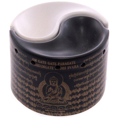 Due pezzi Yin Yang spandiprofumo lampada, in ceramica