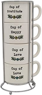 DEI 11903 Happy Home Mug set, 14 oz, Mulitcolor