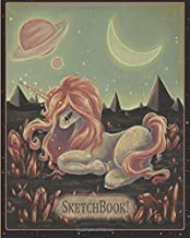 SketchBook! Cosmic Unicorn Blank Doodle Journal: Blank sketchbook featuring cover art by artist, White Stag.