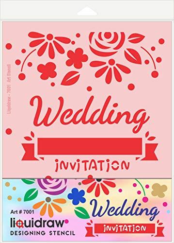 Vloeibaar ontwerp stencils voor ambachten, bruiloft uitnodiging stencils Scrapbooking bloem ambacht schilderij brief sjabloon
