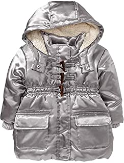 Sherpa Lined Hood Frost Free Toggle Coat Little Girl Sz 3T Gray