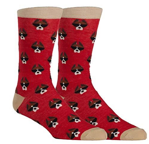 Boxer Dog Novelty Socks for Men, Dog with Sunglasses Novelty Socks for Men