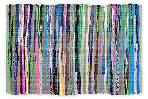 """DII Chindi Collection Handmade Rag Rug, Colors May Vary, 19.5 x 31.5"""", Multi, 1 Piece"""
