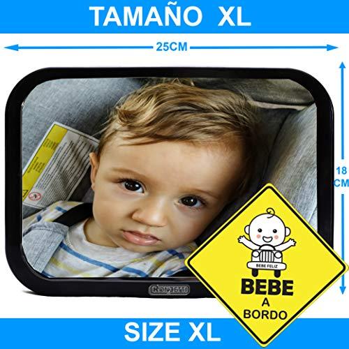 ESPEJO RETROVISOR DE BEBE PARA EL ASIENTO TRASERO DEL COCHE, conduce sin perder el contacto del bebe para que ambos estén seguros y felices.