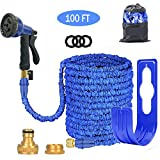 ANSYU Expandable Garden Hose Pipe 3 times expanding 100FT Lightweight With 8 Function