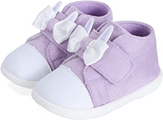 LACOFIA Baskets Bébé Fille Chaussures Premiers Pas à Semelle en Caoutchouc Antidérapantes pour Bébé