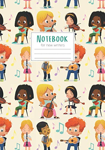 Notebook: Maggie Squeak Kids - Musical Band Kids Primary Notebook with Skip Line Ruling