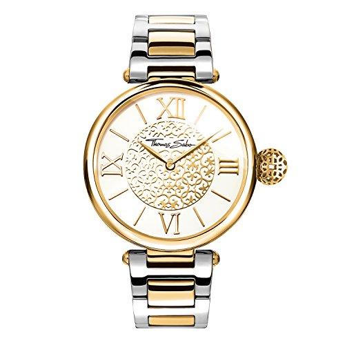 Thomas Sabo Damen-Armbanduhr Karma gold silber Analog Quarz WA0299-291-202-38 mm