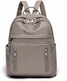 Oxford Cloth Simple Fashion Women's Backpack Travel School Shoulder Bag Daypack (Color : Khaki)