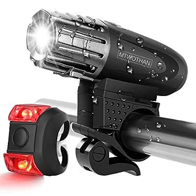 Amazon - Save 70%: MTWOTHAN USB Rechargeable Bike Light Set, Waterproof Super Br…
