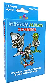 Sharks Aliens Zombies  Fun Card Game for Kids Played Like Rock Paper Scissors War for Boys Girls Family Game Night Gift Giving