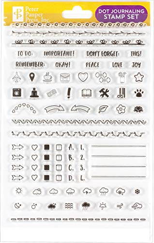 Dot Journaling Clear Stamp Set (60 individual stamps)